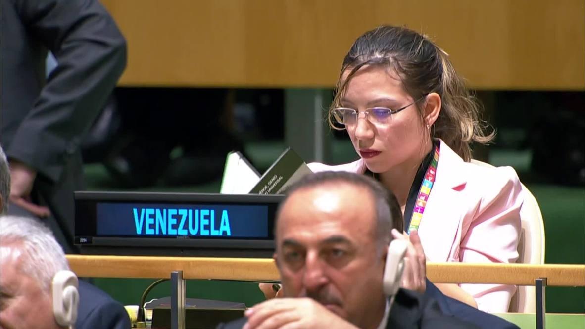 ONU: Delegada venezolana lee un libro durante la intervención de Trump atacando a Venezuela