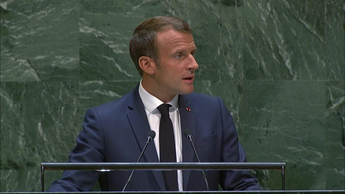 """ONU: """"Nos falta valor"""" – Macron denuncia la inacción de los líderes mundiales"""