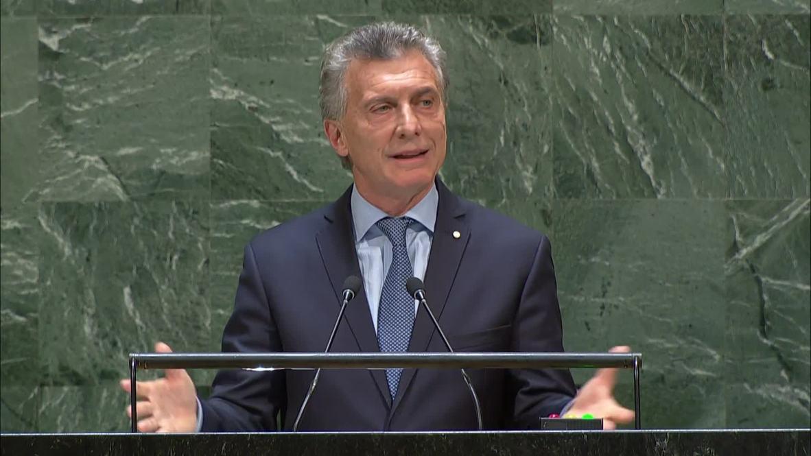 """ONU: Macri enfatiza la importancia de MERCOSUR para la """"integración regional"""""""