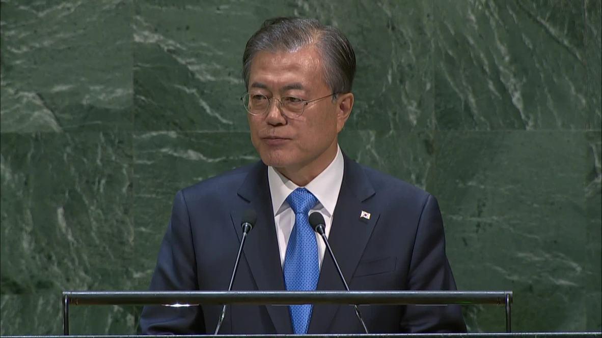 """ONU: Moon Jae-In propone convertir la Zona Desmilitarizada en una """"zona internacional de paz"""""""