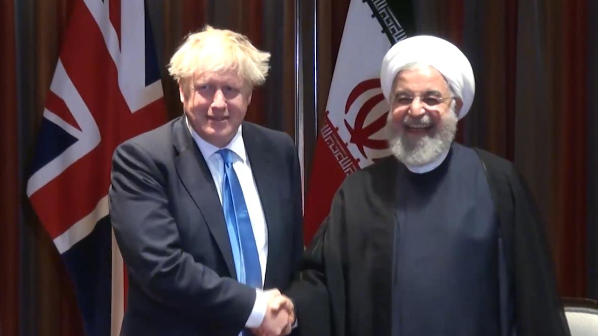 ONU: El presidente iraní, Rohaní, se reúne con Johnson y Merkel en la Asamblea General de la ONU