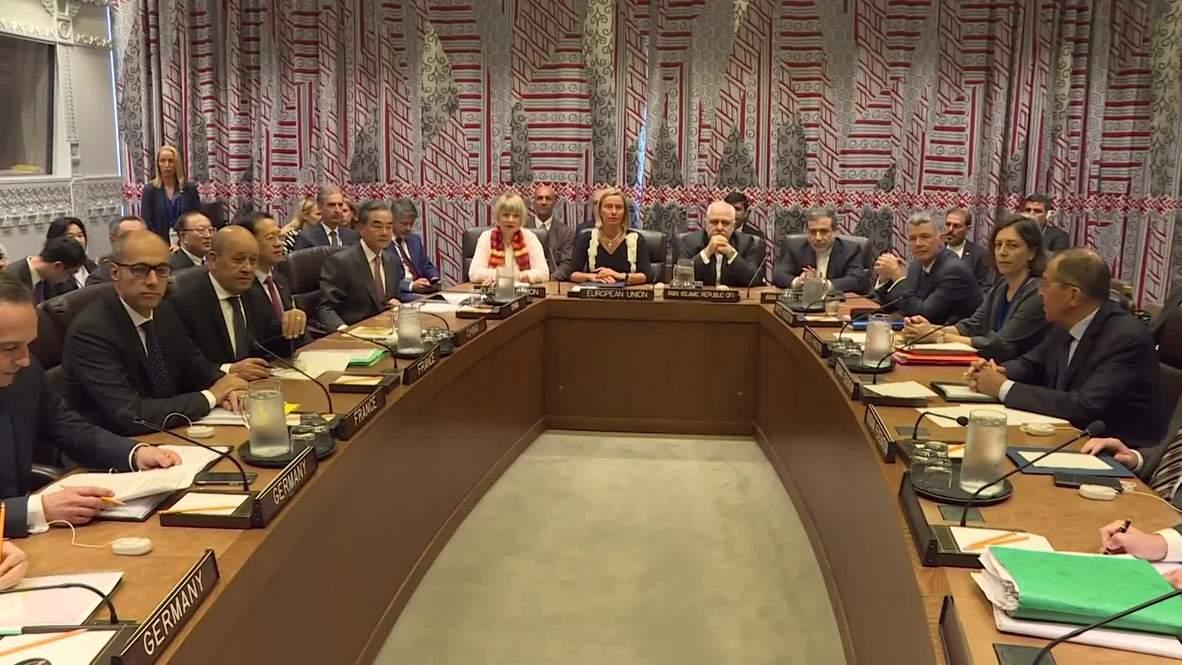 """ООН: Лавров встретился с коллегами для обсуждения иранской """"ядерной сделки"""""""