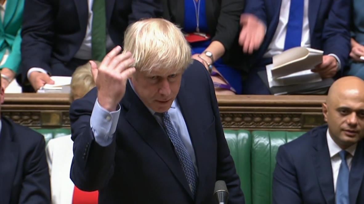 Reino Unido: Johnson desafía a la oposición a presentar una moción de censura