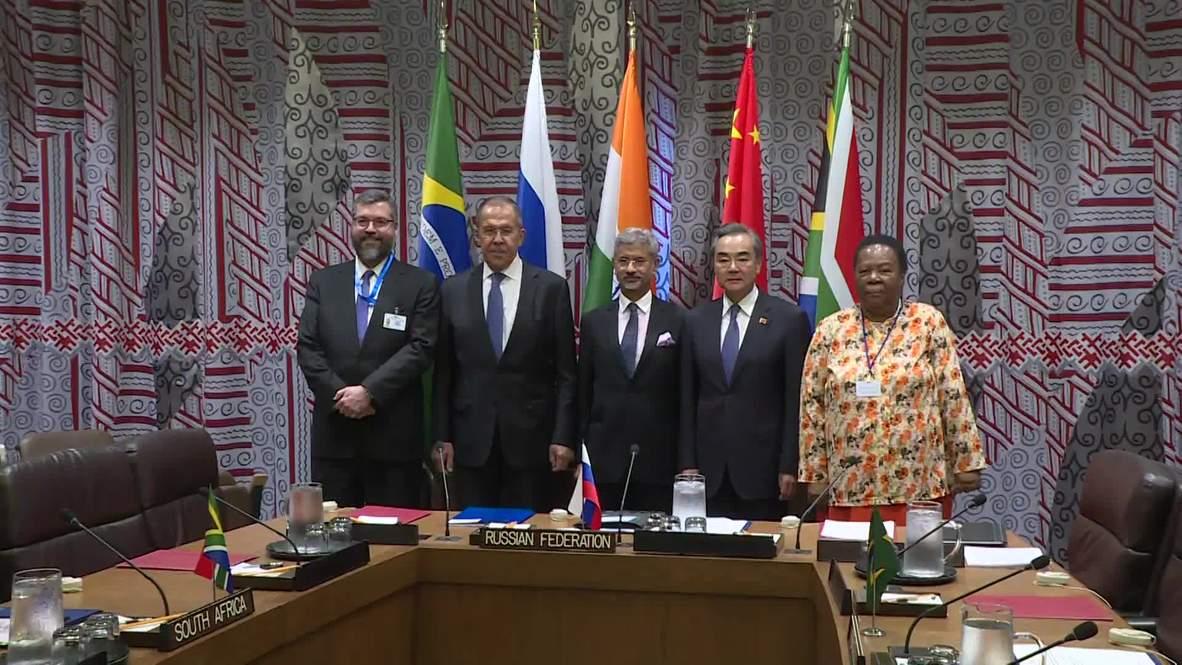 ONU: Lavrov se reúne con sus homólogos de los países BRICS