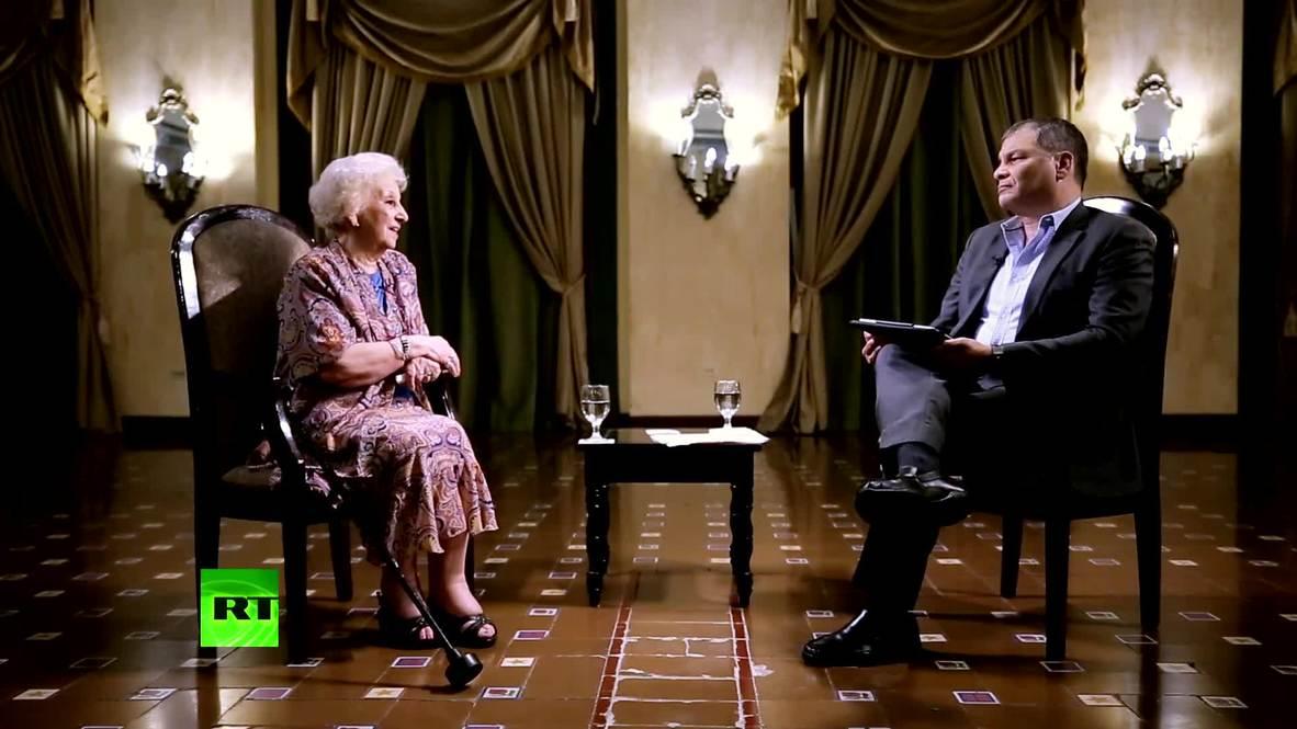 Presidenta de Abuelas de Plaza de Mayo es entrevistada en 'Conversando con Correa' *CONTENIDO DE SOCIOS*