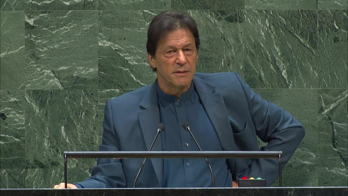 """ONU: """"Si estuviera en Cachemira """"tomaría un arma"""" - Imran Khan en la AGNU"""