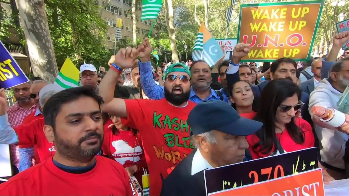 EE.UU.: Protestas en contra y a favor del primer ministro indio Modi se enfrentan en Nueva York