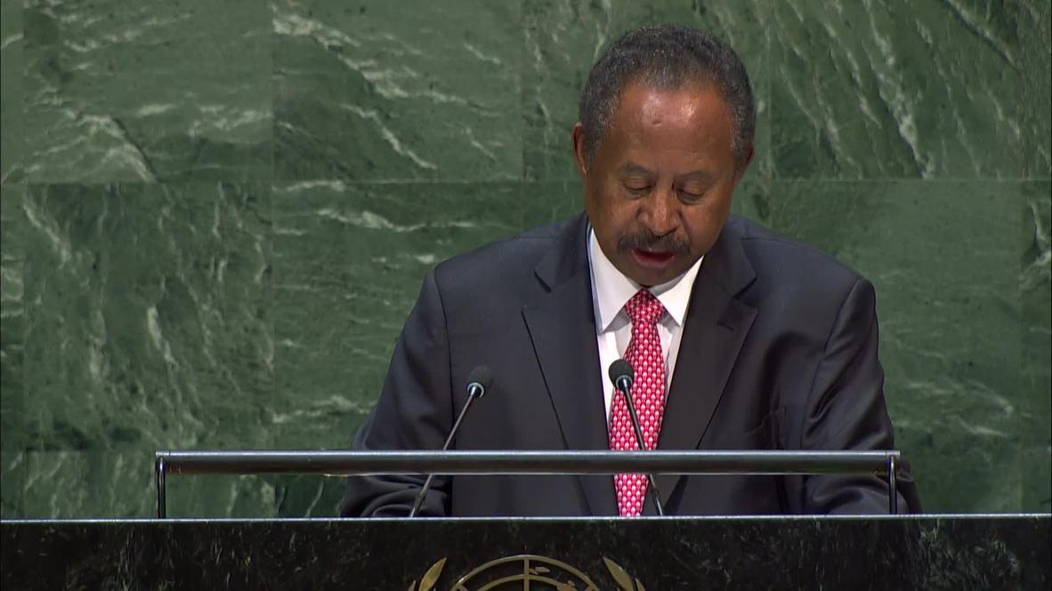 الأمم المتحدة: حمدوك يدعو لرفع اسم السودان من قائمة الدول الراعية للإرهاب