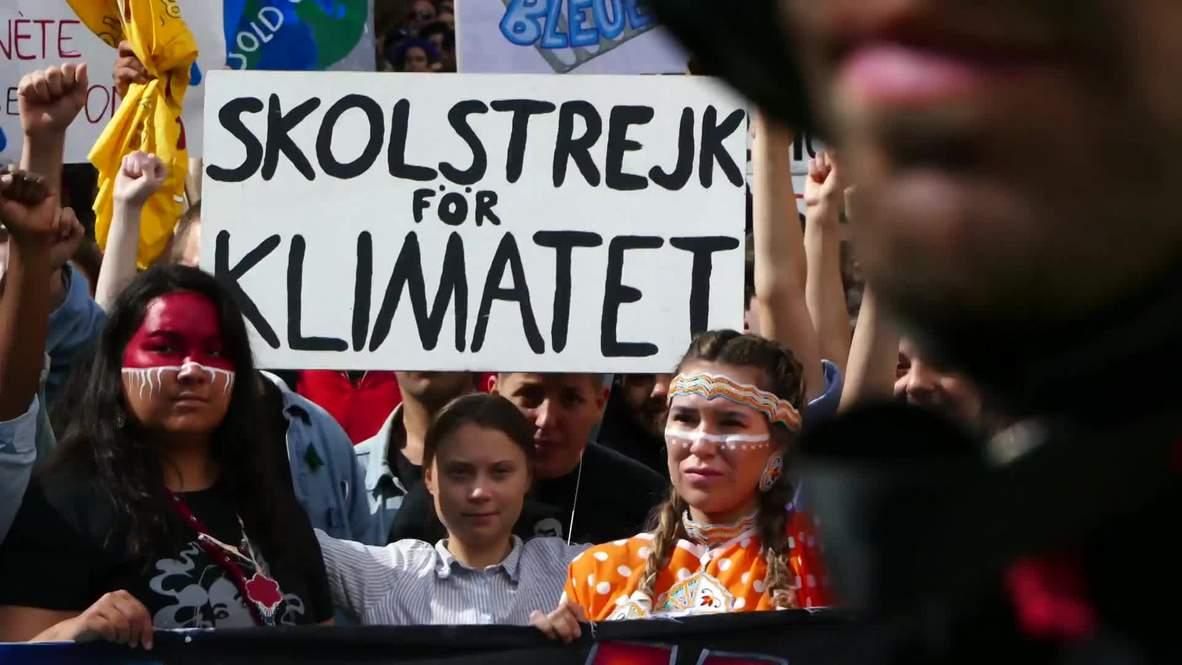 Canada: Greta Thunberg speaks at Montreal climate strike