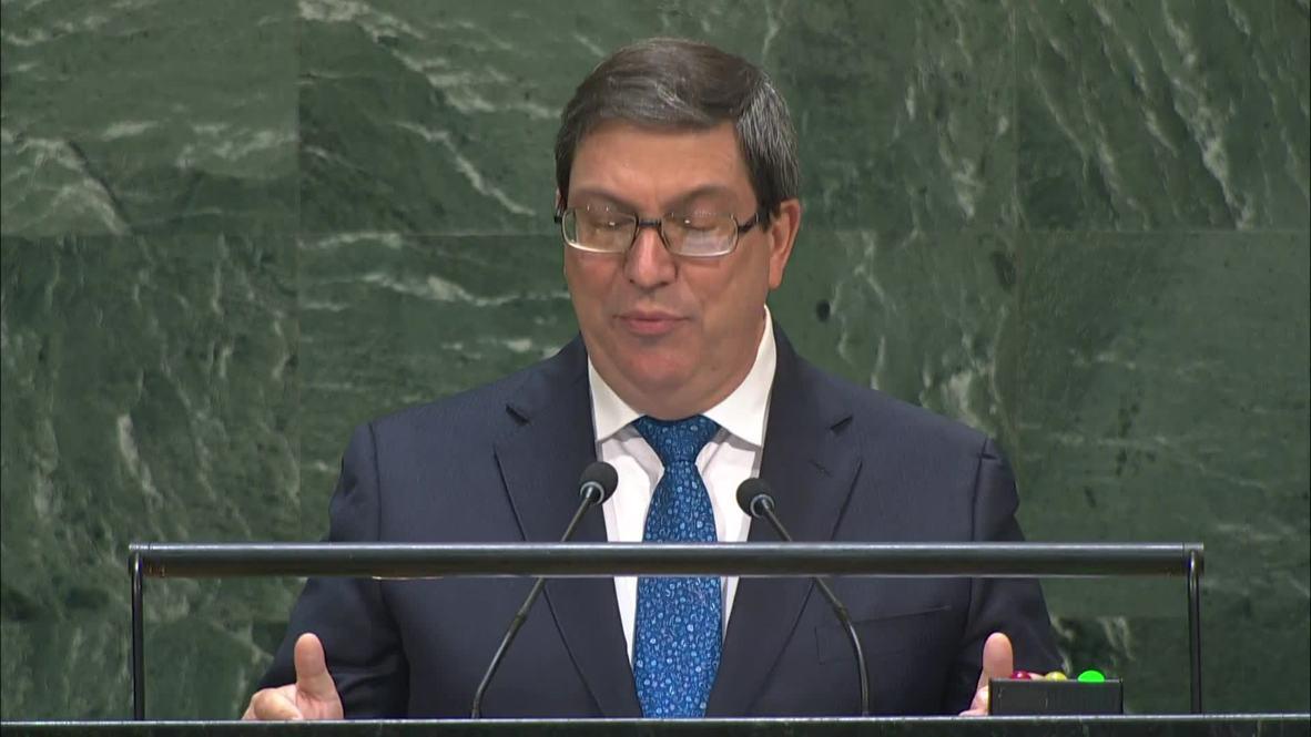 """ONU: Las sanciones de EE.UU. a Raúl Castro """"son una migaja electorera"""" - Ministro de Exteriores de Cuba"""