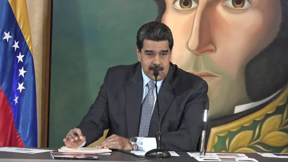 """Venezuela: Iván Duque """"miente"""" porque """"quiere un conflicto armado contra Venezuela"""" - Maduro"""