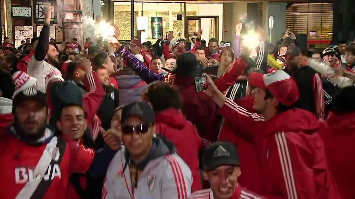 Argentina: River Plate fans gear up ahead of Copa Libertadores 'Superclasico'