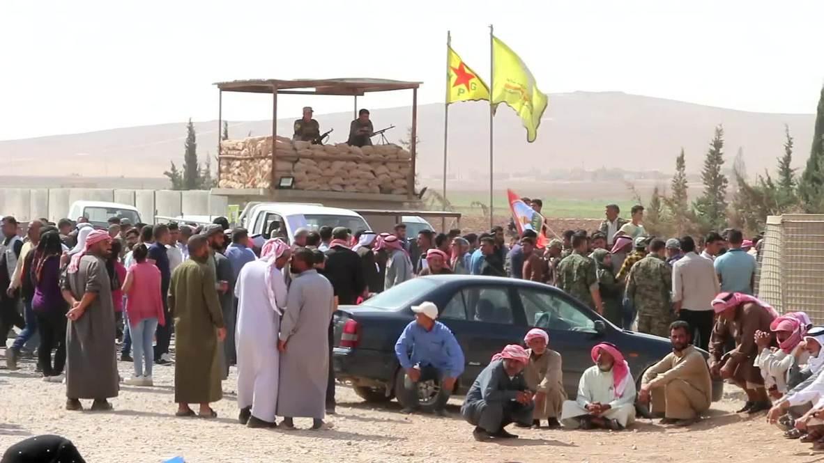 Siria: Miles protestan por la falta de representación del norte de Siria en el Comité Constitucional
