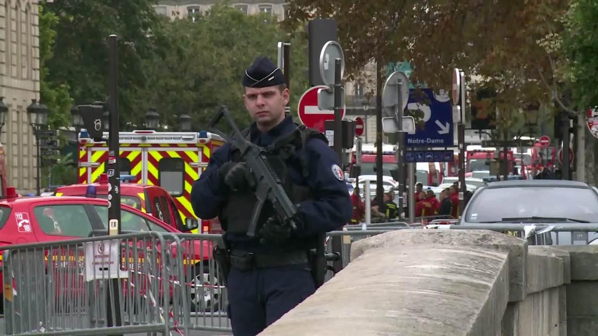 فرنسا: مقتل خمسة أشخاص بينهم مسلح بسكين في هجوم على مقر للشرطة