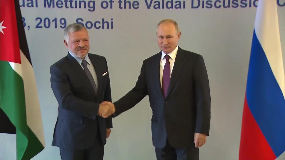 Russia: Jordan's King Abdullah meets Putin in Sochi