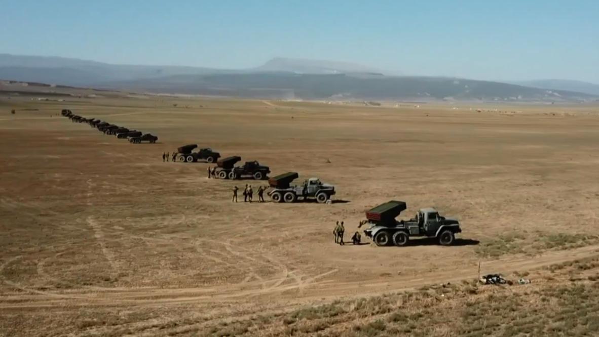 Russia: Caspian Fleet conduct massive missile drills in Dagestan