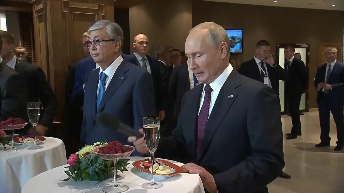 Россия: Тост за ваше здоровье! Путин, Алиев, Токаев подняли бокалы на неформальной встрече в Сочи