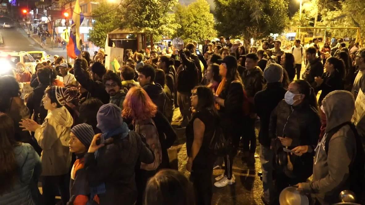 Ecuador: Cacerolada en Quito por el descontento de los ciudadanos
