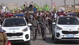 Syria: Ras al-Ayn residents protest against Turkish operation