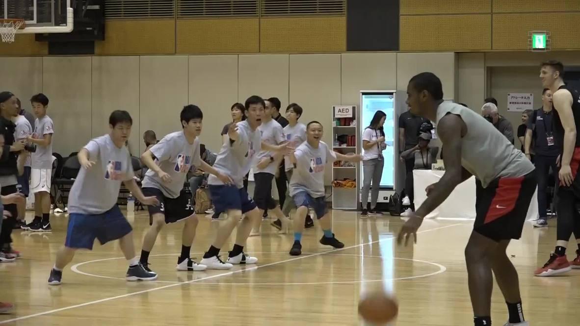 Japón: Las estrellas de la NBA participan en un evento benéfico en Tokio