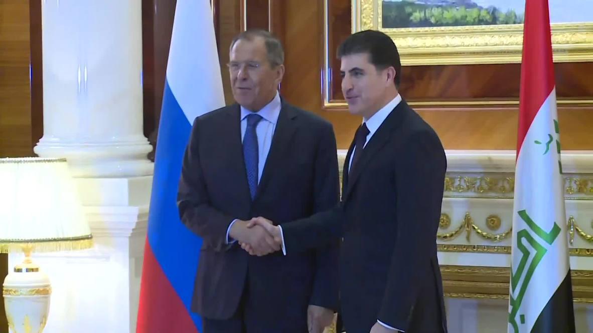 Iraq: Lavrov holds talks with Kurdish leaders in Erbil