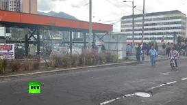 Ecuador: Equipo de RT afectado por gas lacrimógeno durante protestas en Quito *CONTENIDO DE SOCIOS*