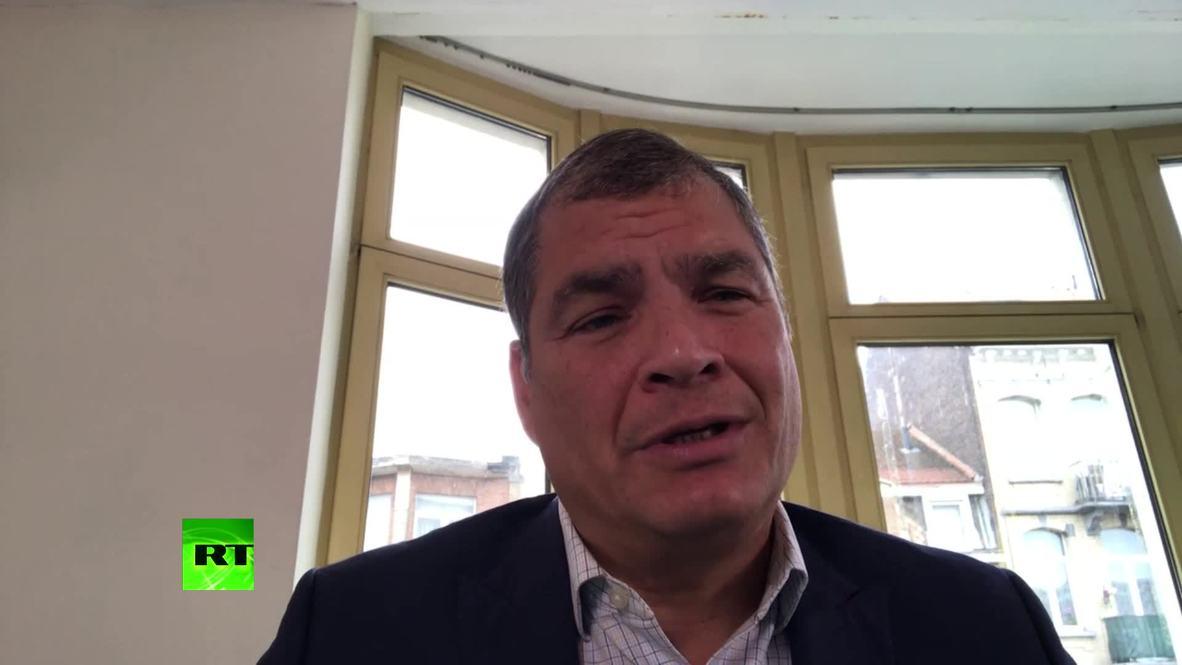 """Bélgica: Correa califica las acusaciones de Moreno de """"una locura"""" *CONTENIDO DE SOCIOS*"""