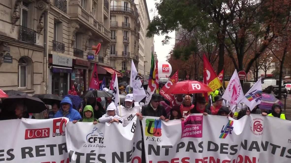 Francia: Jubilados y sindicatos continúan las protestas contra las reformas de las pensiones