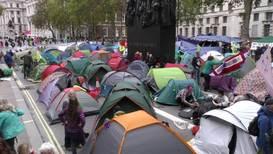 Reino Unido: Activistas de Extinction Rebellion acampan en en centro de Londres