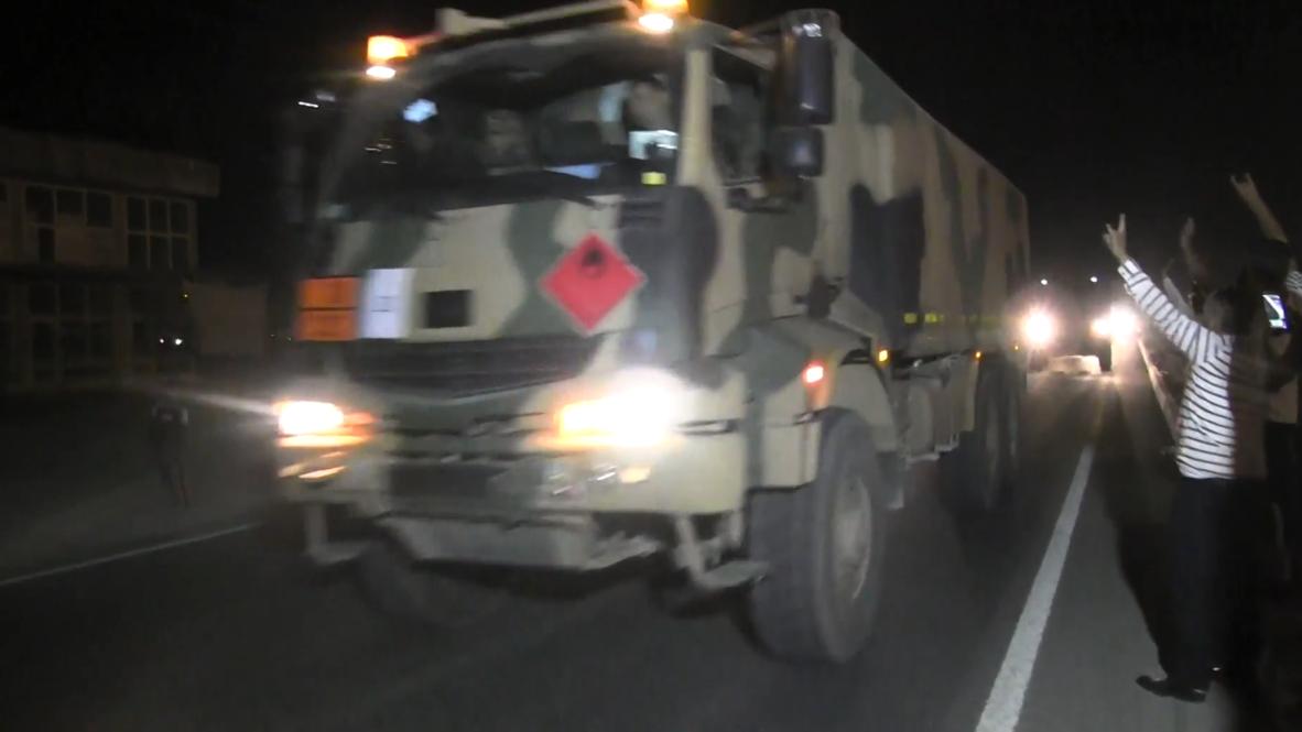 تركيا: القافلة العسكرية تتجه إلى الحدود السورية