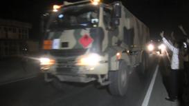Turkey: Military convoy advances towards Syrian border