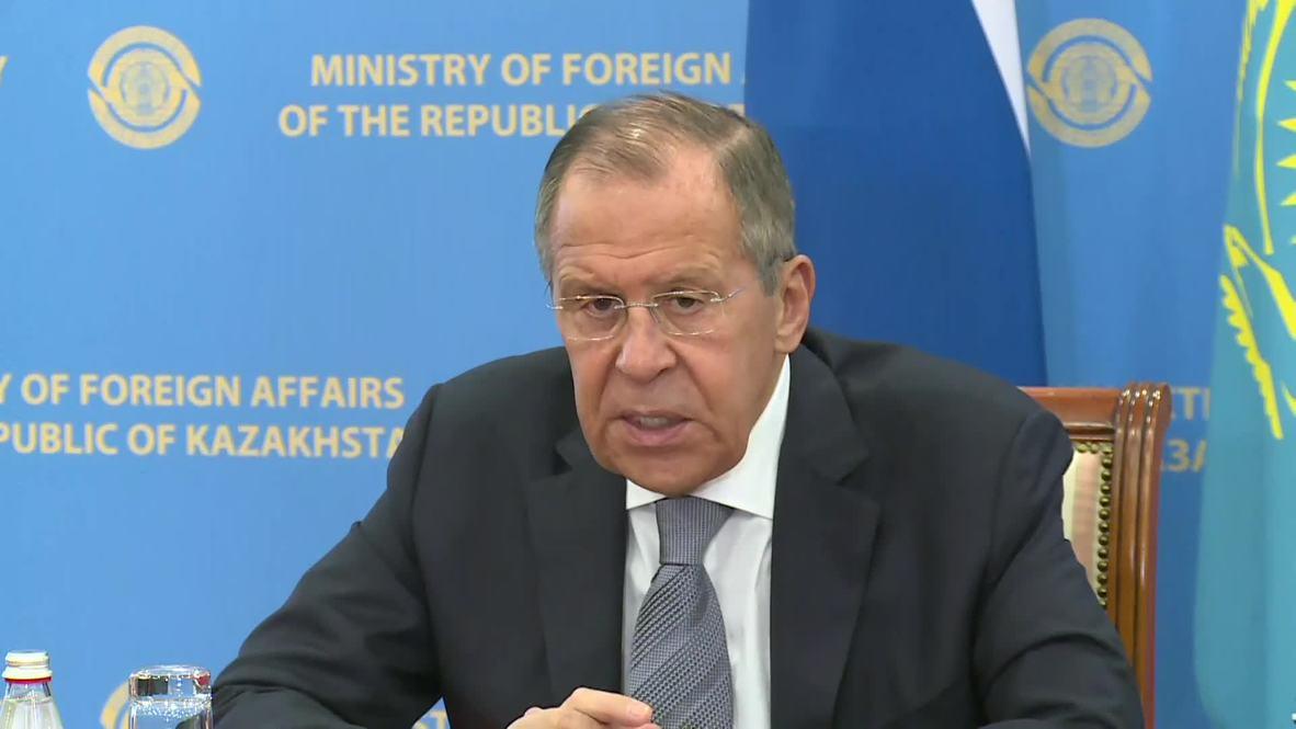 """كازاخستان: لافروف يصف موقف واشنطن تجاه سوريا بـ""""المتناقض"""""""