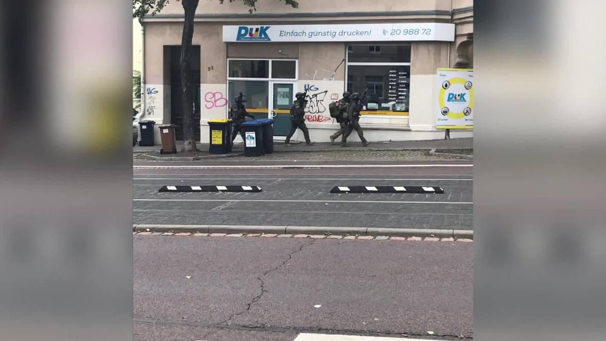 Alemania: Fuerzas especiales se despliegan en Halle tras el tiroteo *FOTOGRAFÍAS*