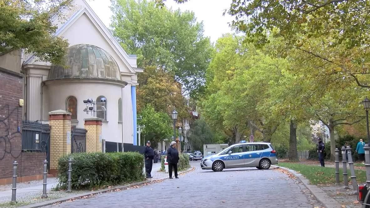 Alemania: Policía estacionada frente a la sinagoga de Berlín tras el tiroteo de Halle