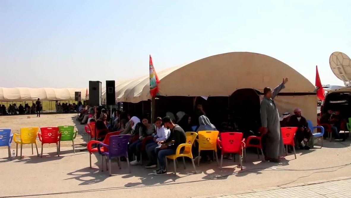 Siria: Residentes en Tal Abyad protestan contra la ofensiva militar turca