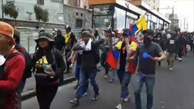 Ecuador: Manifestantes intentan llegar hasta el centro histórico de Quito