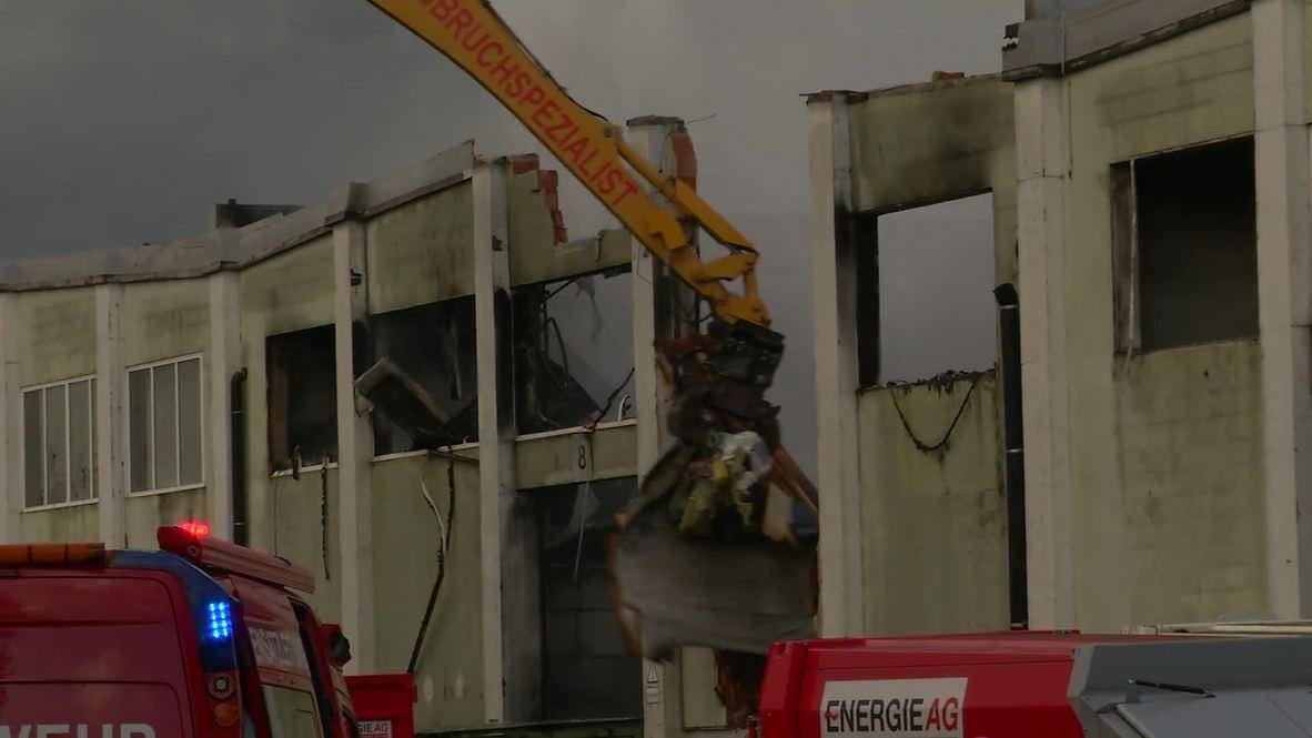 Austria: Burning building demolished to extinguish Linz waste disposal fire
