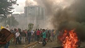 Ecuador: Quito protesters set government building on fire