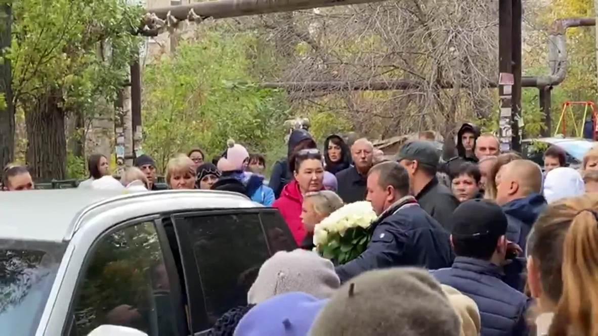 Россия: Саратов простился с убитой Лизой Киселевой