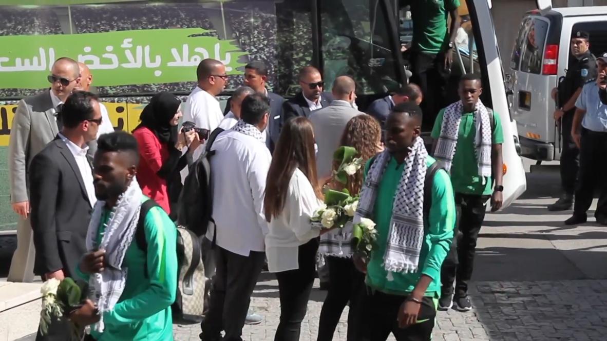 Palestina: Selección de fútbol de Arabia Saudita llega por primera vez a Cisjordania para disputar un juego