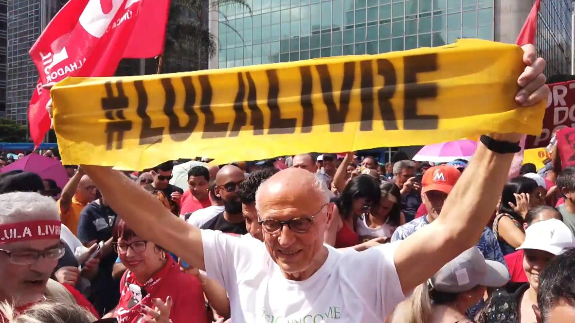 Brasil: Miles de personas piden la libertad del expresidente Lula da Silva