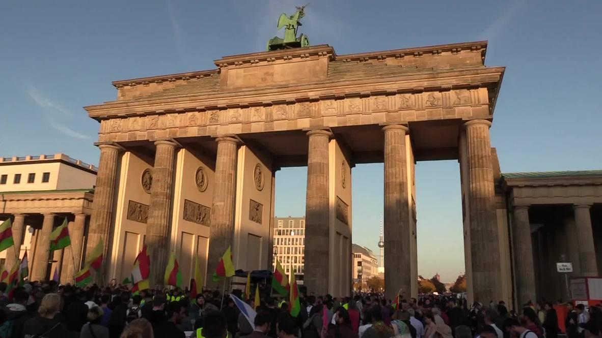 Alemania: Cientos de personas muestran su apoyo a los kurdos ante la ofensiva turca