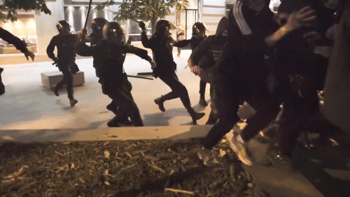 España: Protesta contra la sentencia del 'procés' en Madrid finaliza con cargas policiales