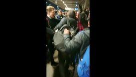 UK: Commuters turn violent during Extinction Rebellion protest at Tube station