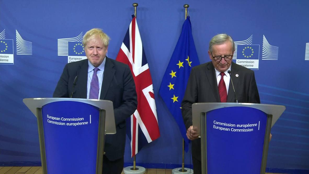 """Bélgica: """"Tenemos un acuerdo"""" - Juncker y Johnson anuncian nuevo plan para el Brexit"""