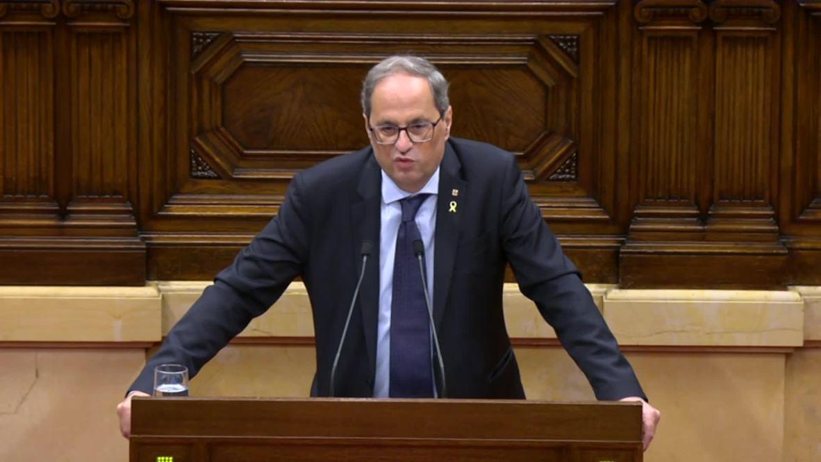 Spain: President of Catalonia reiterates criticism of 'unfair' verdict for jailed leaders