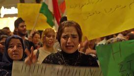 Grecia: Manifestantes pro kurdos protestan ante el consulado de EE.UU. en Tesalónica