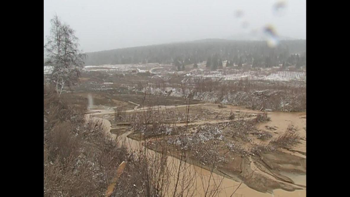 Россия: Смыло с лица земли. На месте прорыва дамбы в Красноярском крае работают спецслужбы *18+*