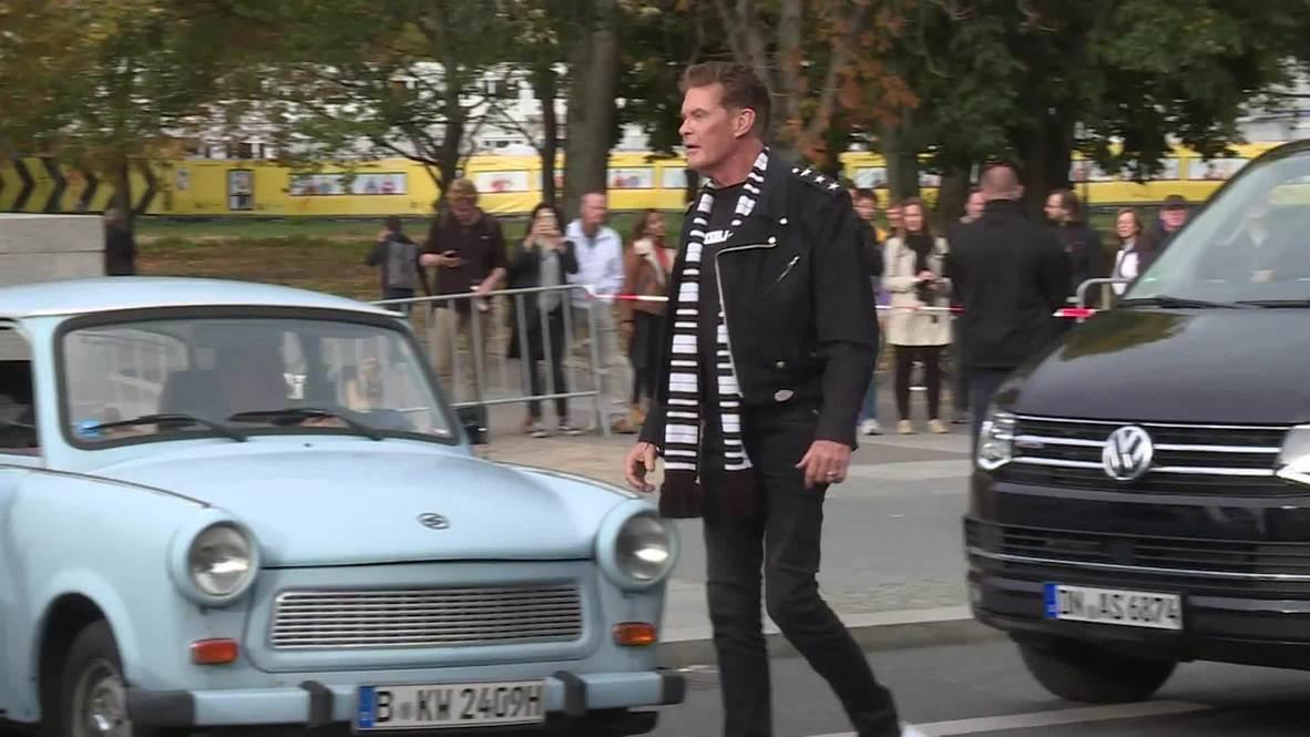 Trabbies honk Hasselhoff's 'Looking for Freedom' in Berlin