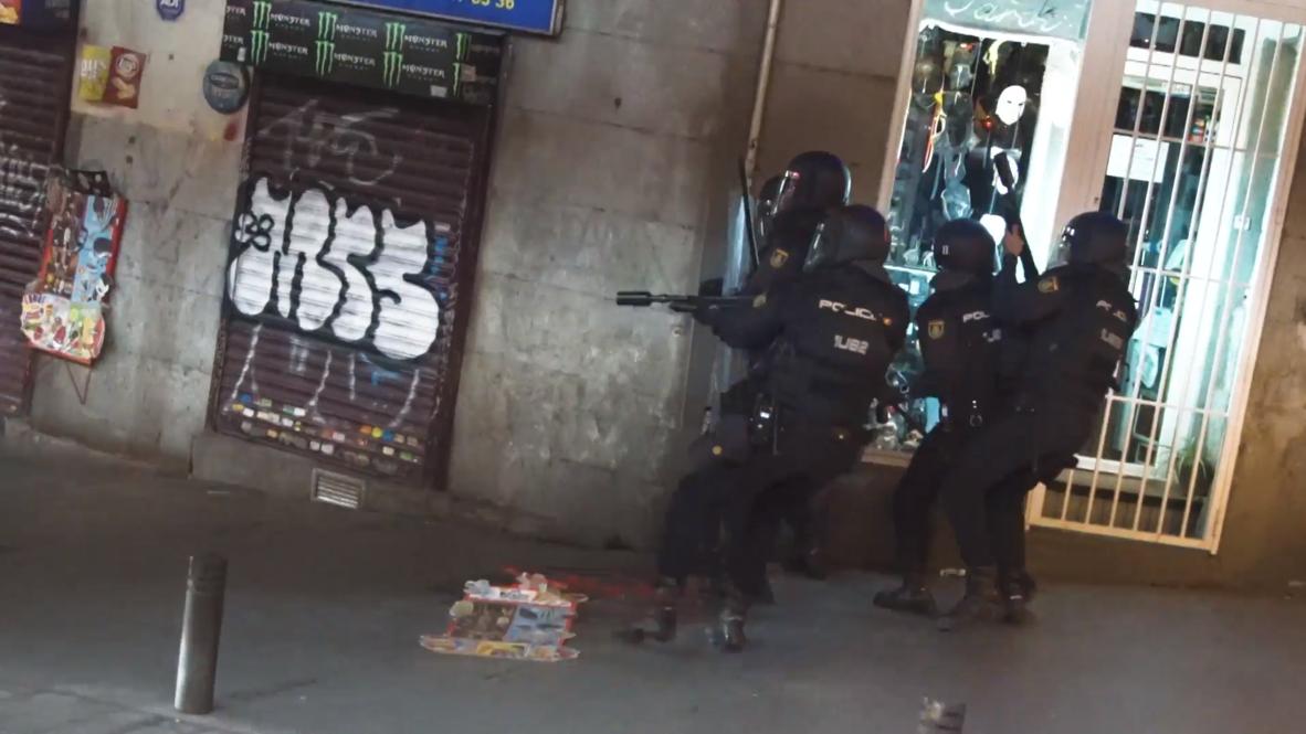 España: Manifestación contra la sentencia del 'proces' en Madrid finaliza con disturbios